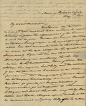 James M. Wayne to Sarah Sabina Kean, May 1, 1830 by James M. Wayne