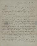 Adolphus Eugene Watson to Sarah Sabina Kean, November 5, 1830