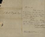 Sarah Sabina Kean to Thomas Dayton, November 8, 1830