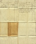 Statement of Account, January 1, 1831