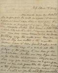 Sarah Sabina Baker to John Kean, April 1, 1834