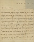 Henry I. Williams to John Kean, March 6, 1835