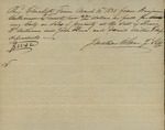 Johnathan Osborn to Bejamin Williamson on behalf of John Kean, Henry I. Williams, Daniel Willis, and Wife, March 12, 1838 by Johnathan Osborn