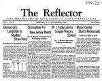 The Reflector, Vol. 1, No. 1, November, 1936