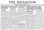 The Reflector, Vol. 3, No. 4, February 15, 1939